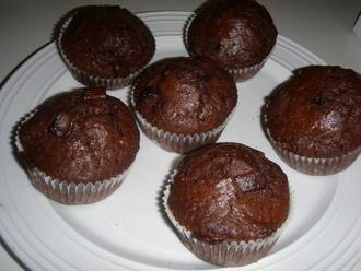 Billede af Chokolade muffins med chokoladestykker
