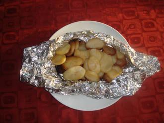 Billede af Crispy kartofler i grillen