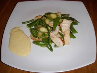Billede af Grøn kyllingesalat