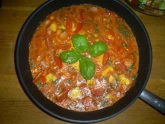 Billede af Omelet med frisk basilikum